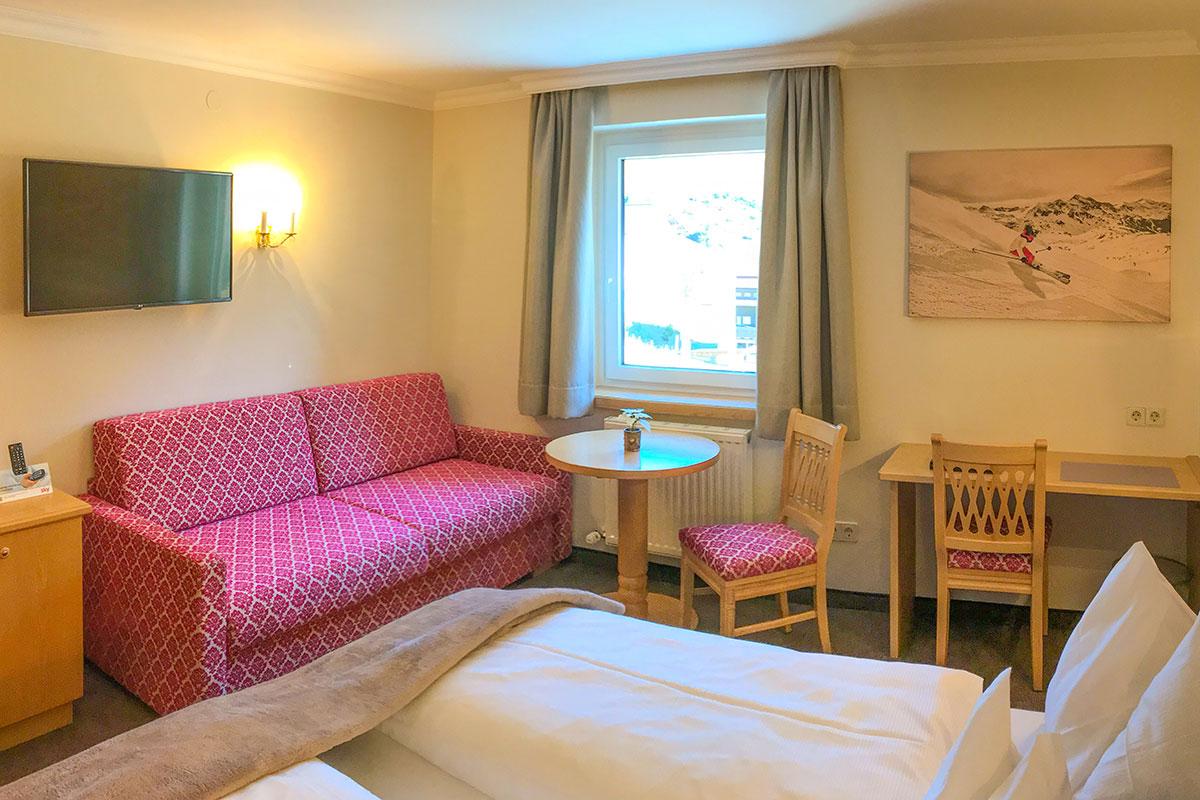 Doppelzimmer Komfort Edelweiss in Andis Skihotel in Obertauern