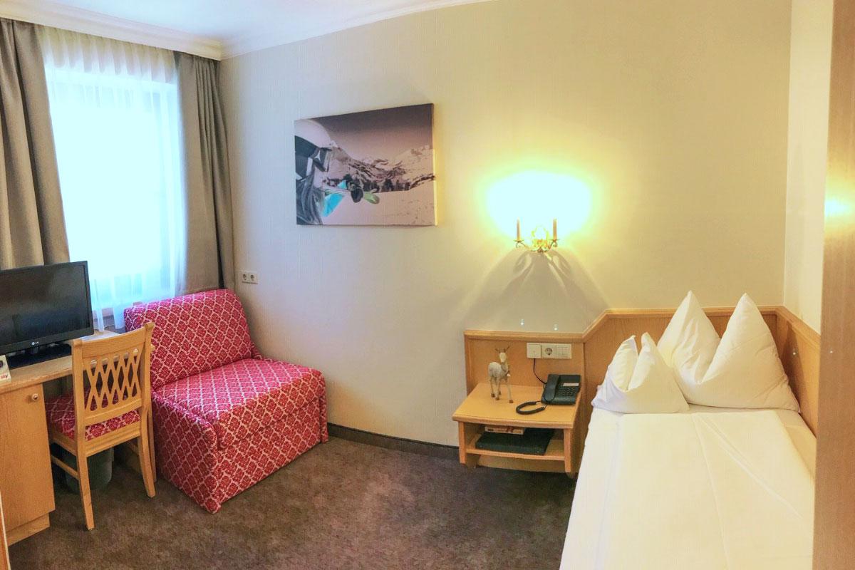 Einzelzimmer Gamsleiten · Andis Skihotel in Obertauern