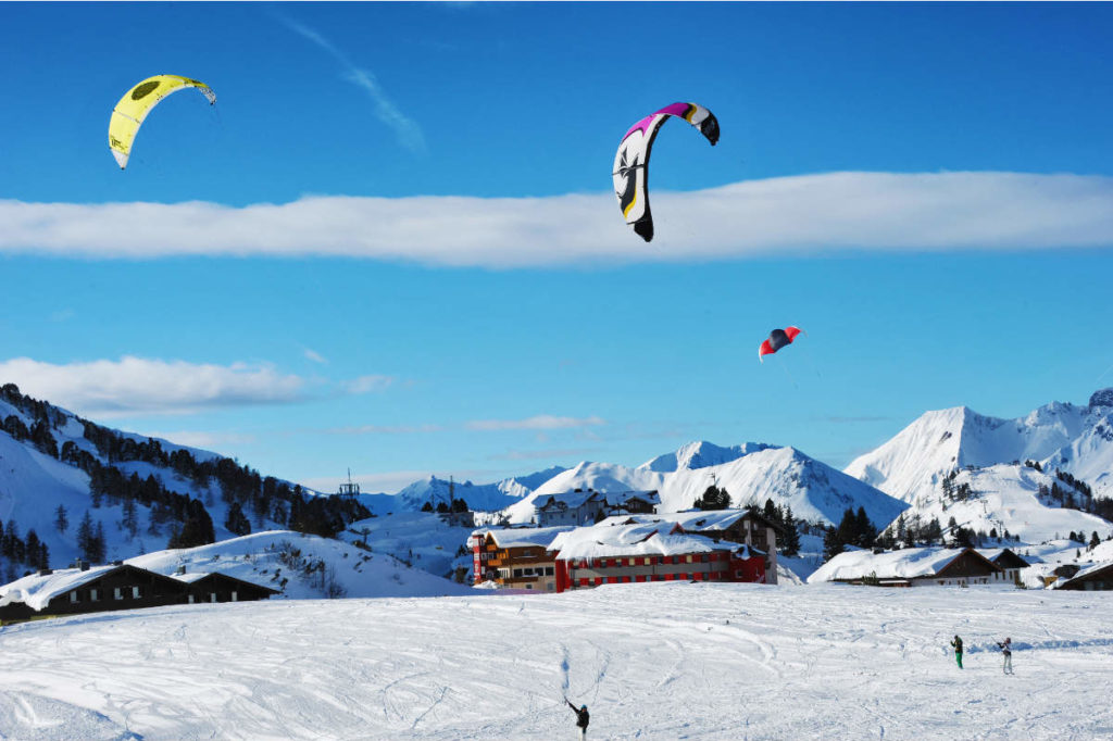 Snowkiten · Winterurlaub in Andi's Skihotel in Obertauern